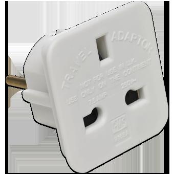 Travel Plug Adapter Power Socket Uk To Eu Euro European India Pakistan 8800216207277 Ebay